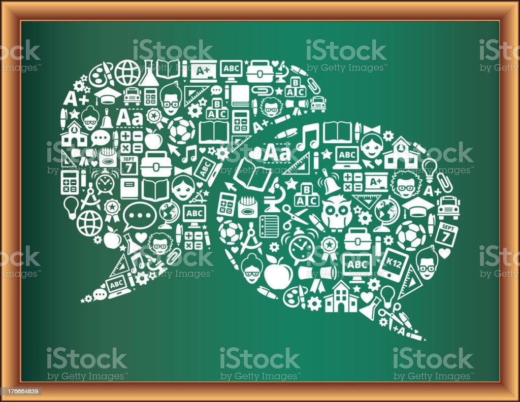 Educación & de la escuela y educación conectado pizarra discurso burbujas colección ilustración de educación de la escuela y educación conectado pizarra discurso burbujas colección y más banco de imágenes de autobús de colegio libre de derechos