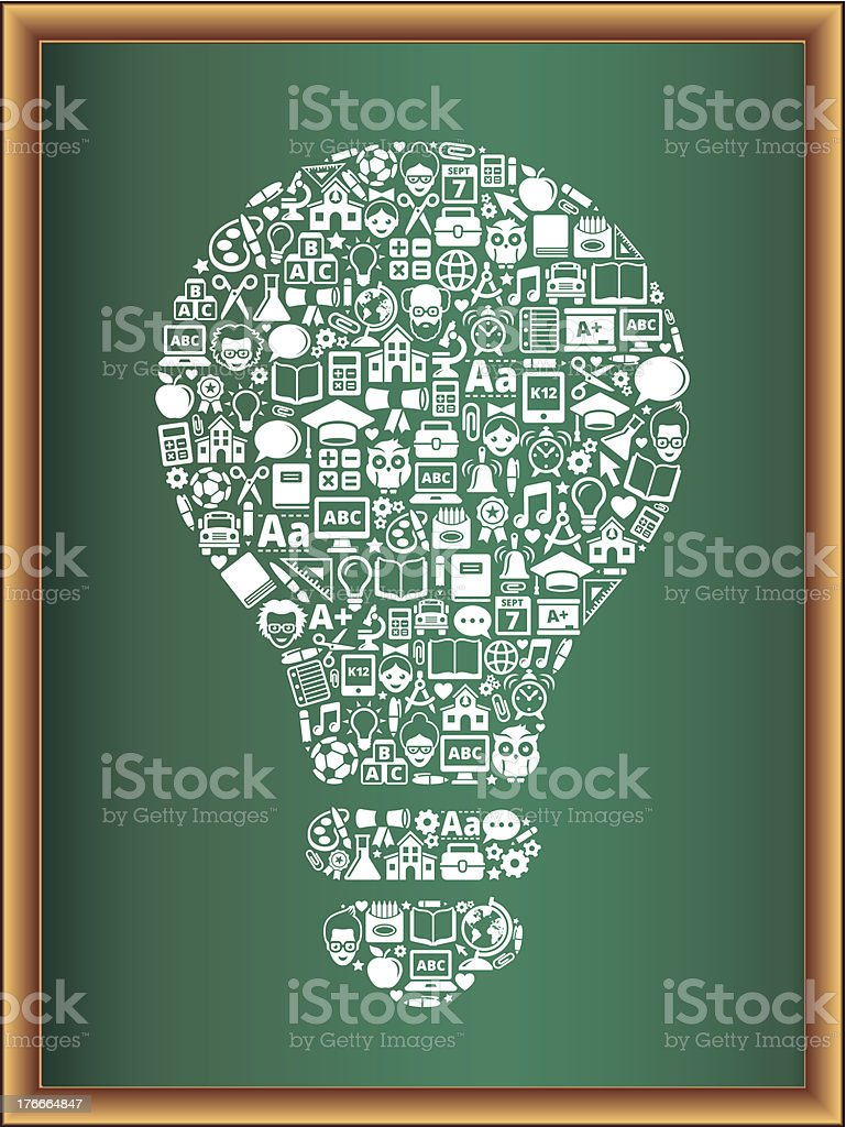 education & school and education Lightbulb Blackboard Collection royalty-free education school and education lightbulb blackboard collection stock vector art & more images of alarm clock