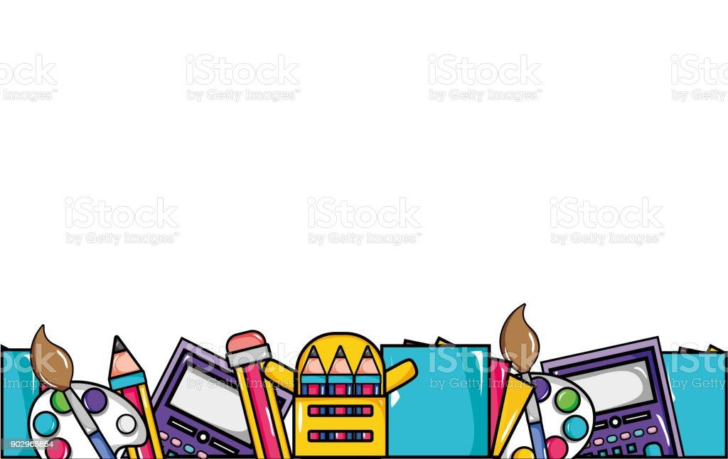 Classroom Wallpaper Design ~ Outils déducation scolaire arrièreplan cliparts