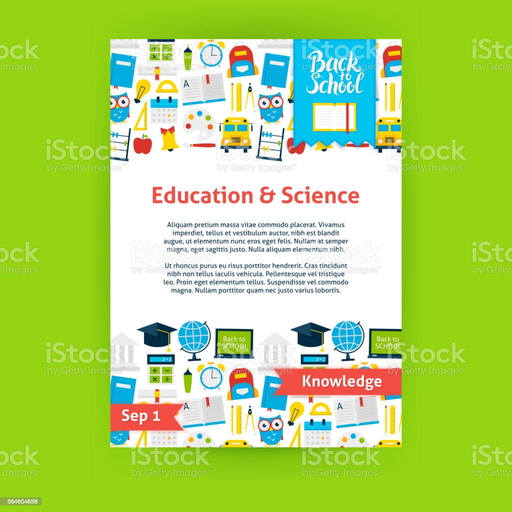 Education Science Poster Template vector art illustration