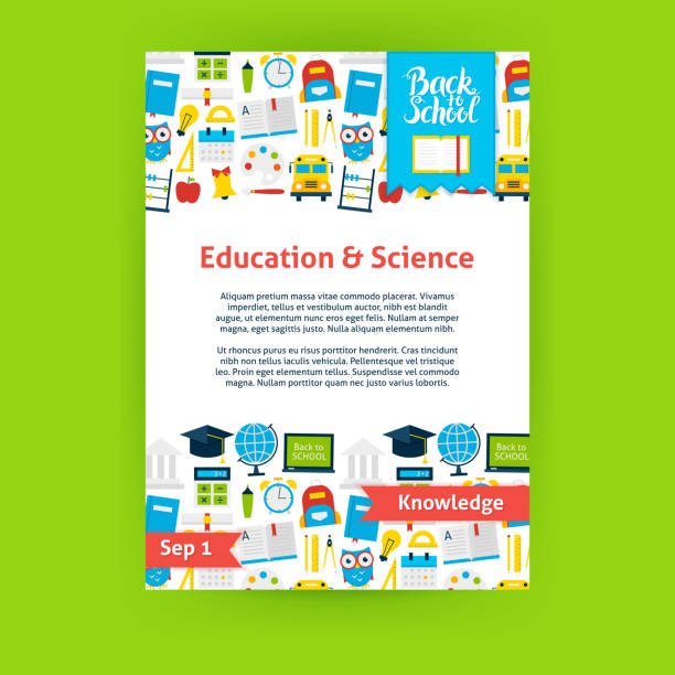 education science poster template - primary school stock illustrations, clip art, cartoons, & icons
