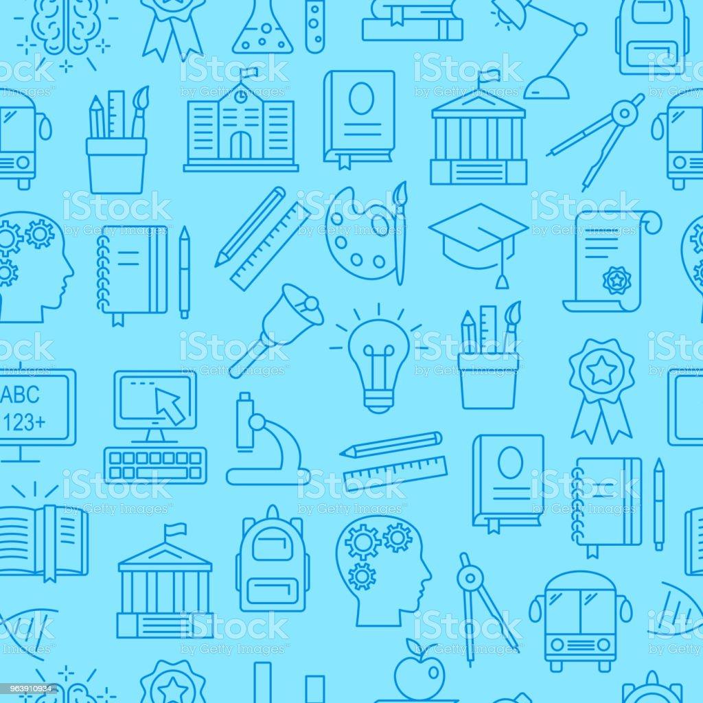 Education seamless pattern - Royalty-free Art stock vector