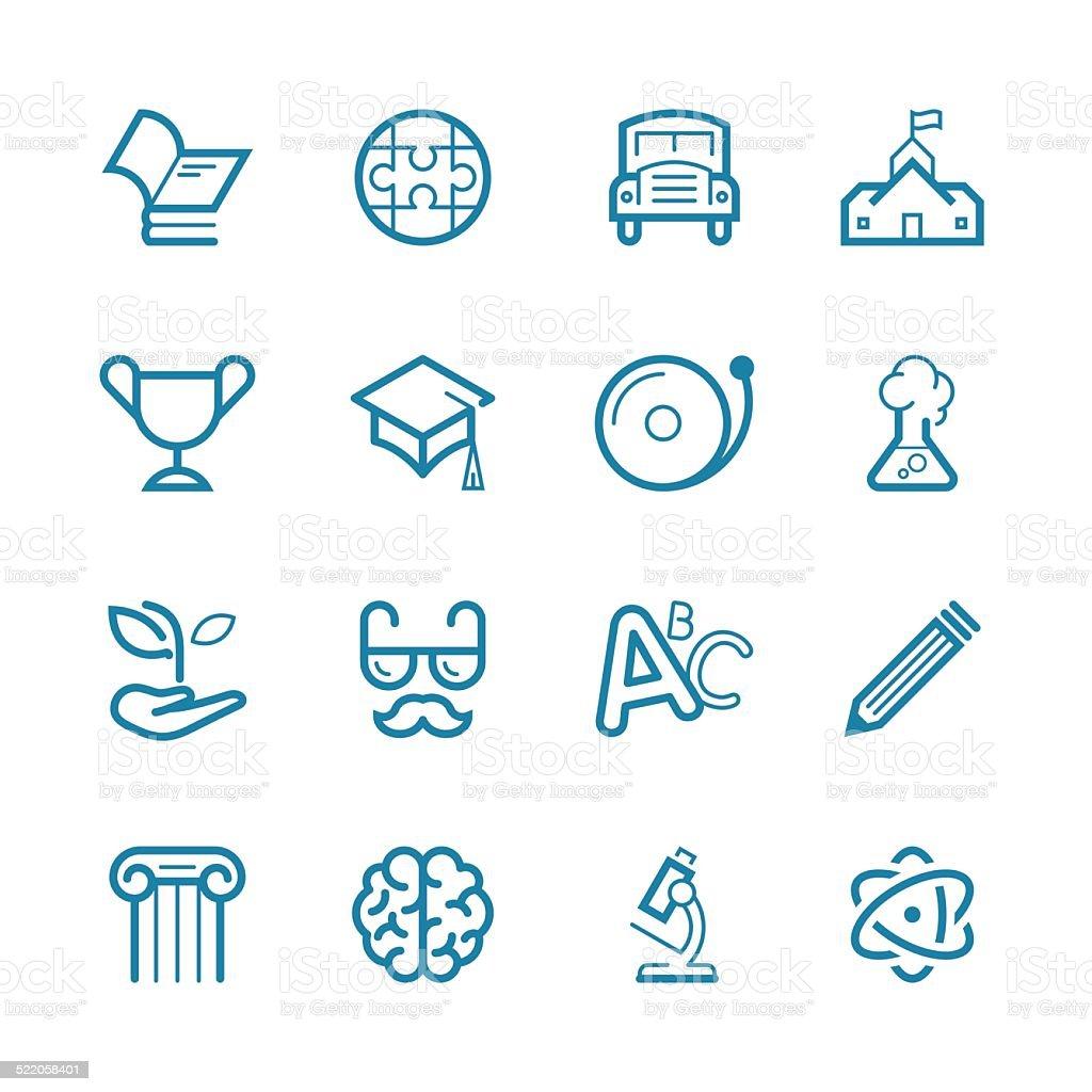 Education Set | Line Icon Series vector art illustration