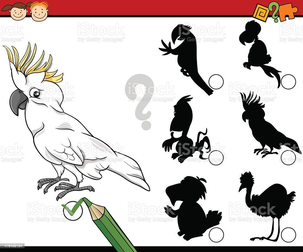 education shadows game cartoon vector art illustration