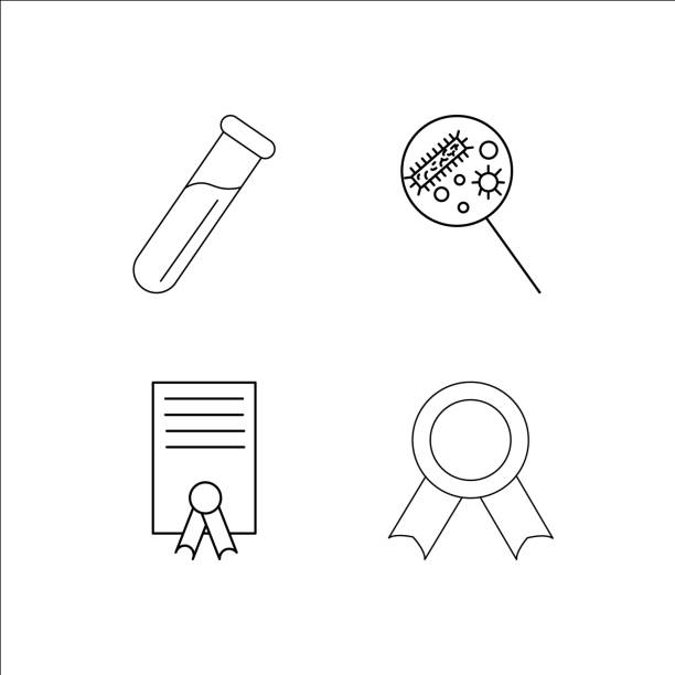Education simple linear icon set.Simple outline icons vector art illustration