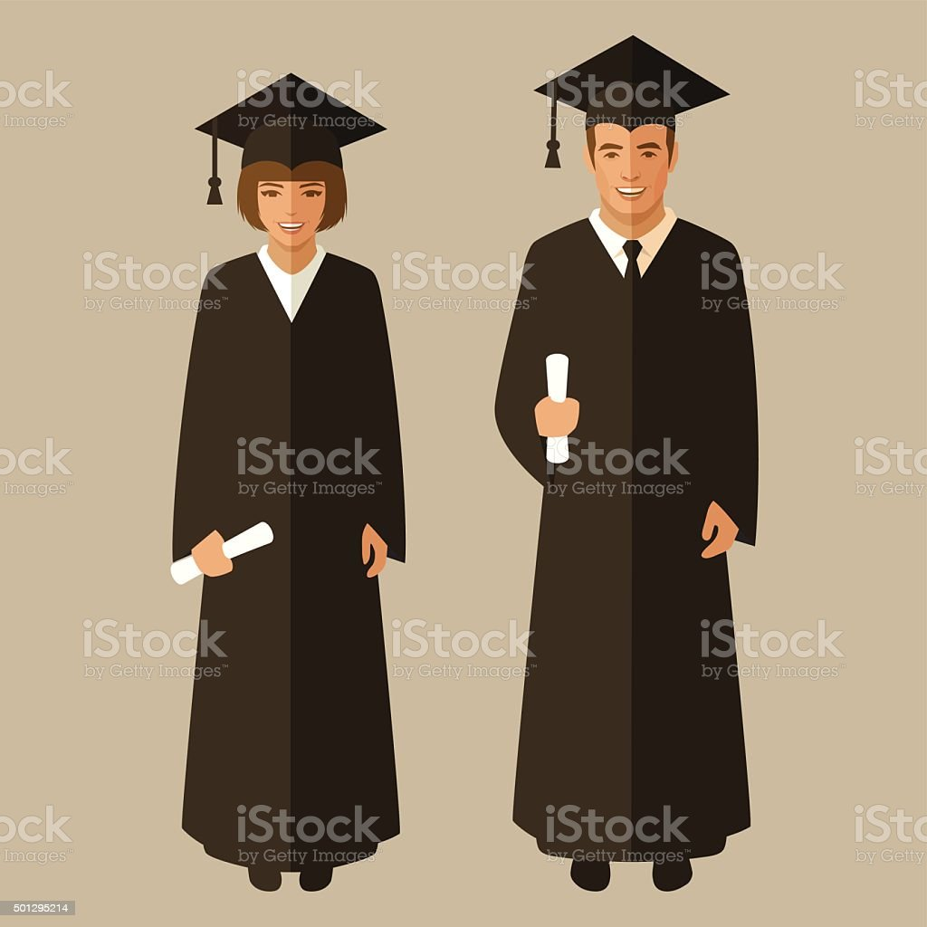 education, student graduate, vector art illustration