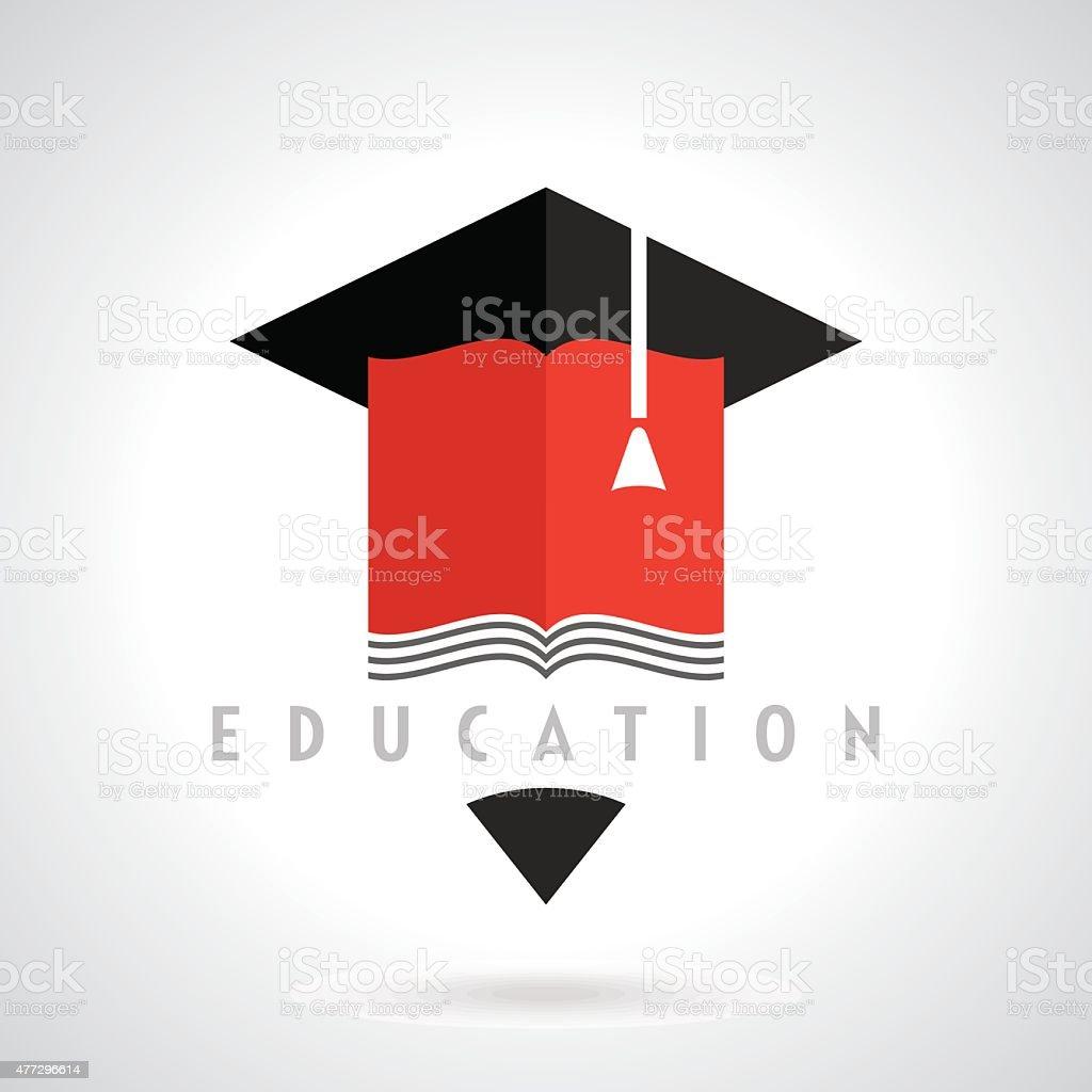 Education symbol concept, vector vector art illustration