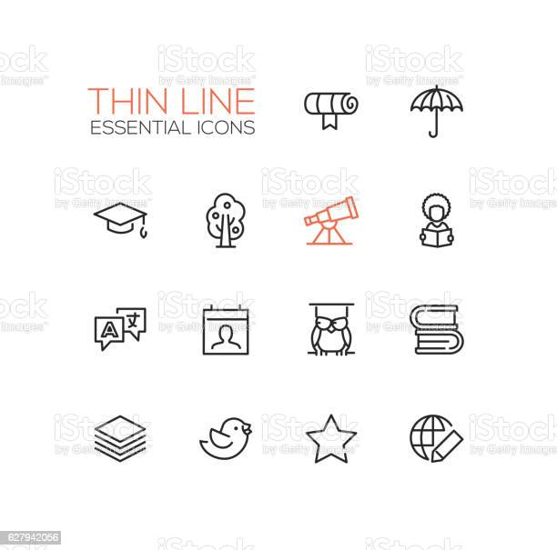 Education thin single line icons set vector id627942056?b=1&k=6&m=627942056&s=612x612&h=typ99jfbxjzcntgiq88rlg7pvfexkjbwny4blui3ghe=