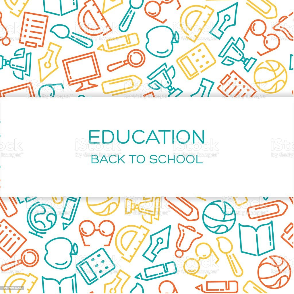 Education Vector Background Stock Vector Art & More Images