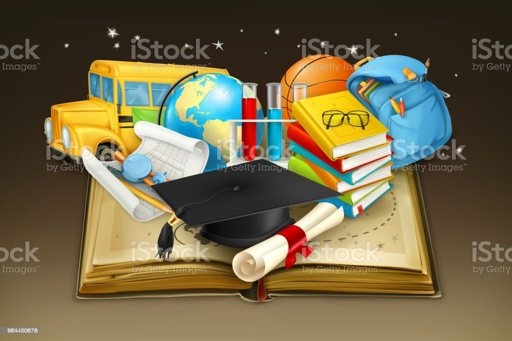 Education Vector Background Stock Illustration - Download Image Now - iStock