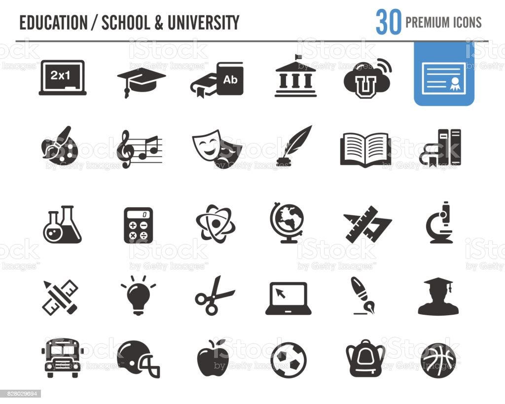 Education Vector Icons // Premium Series vector art illustration