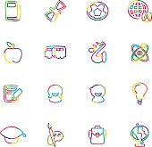 The vector files of education icon set.