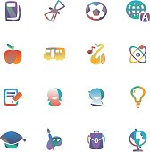 The vector file of education icon set.
