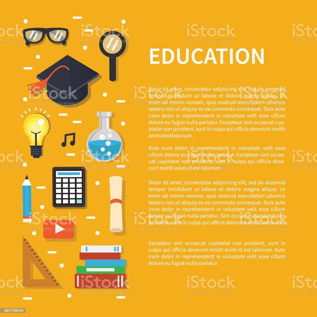 education vector art illustration