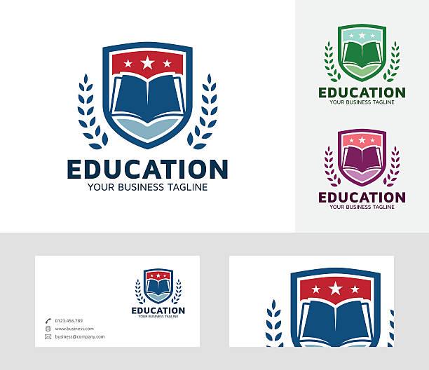 education vector logo - kamm stock-grafiken, -clipart, -cartoons und -symbole