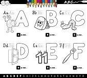 educational alphabet letters color book for kids