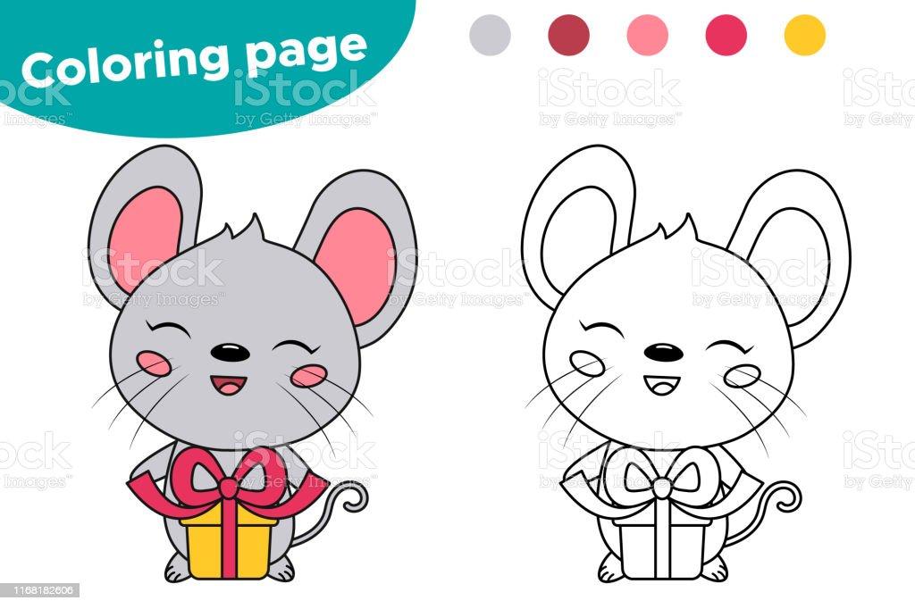 Kleurplaten Verjaardag Vake.Educatieve Kleurplaat Voor Kinderen Leuke Cartoon Kawaii