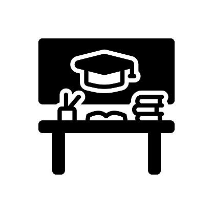 Icon for educational, desk, book, academic, scholastic, scriptural, pedagogical, bookish, savant, studious