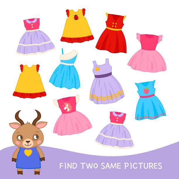 lernspiel für kinder. - puppenkurse stock-grafiken, -clipart, -cartoons und -symbole