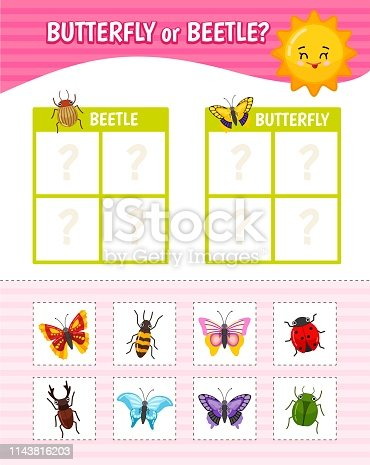 istock Educational game for children with pictures. 1143816203
