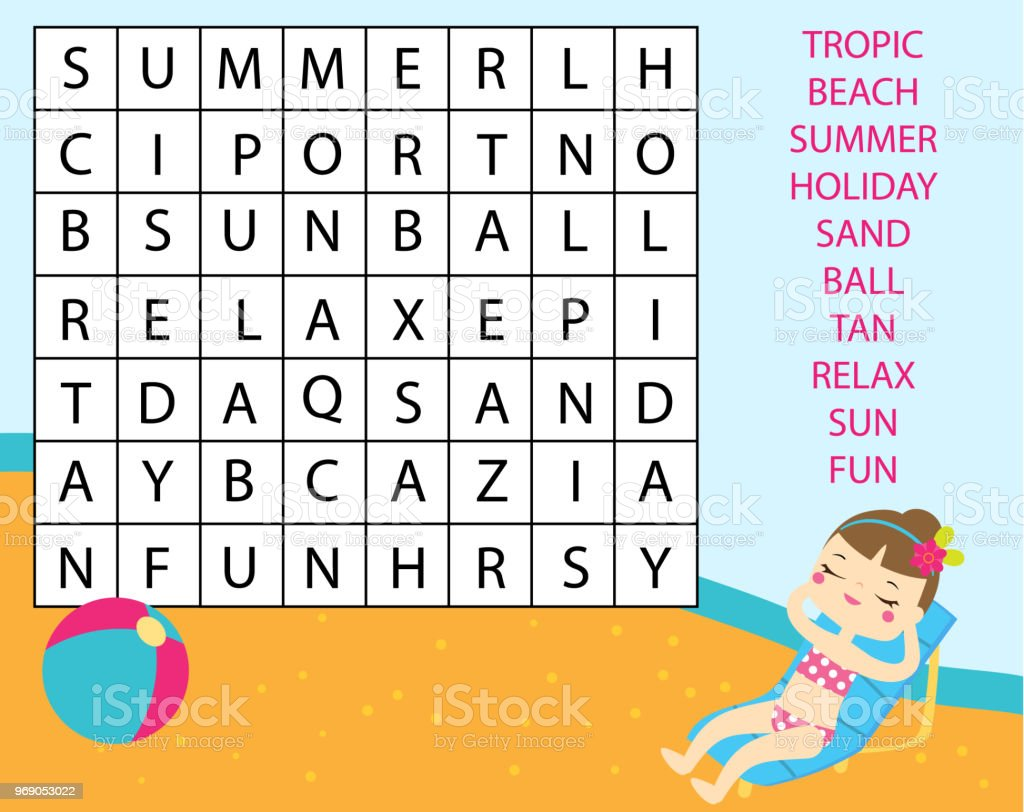 graphic about Free Printable Word Search for Kids called Enlightening Recreation For Little ones Phrase Glance Puzzle Small children