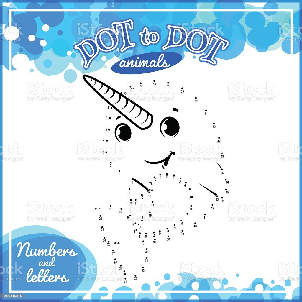 educational game for kids dot to dot stock vector art 589119310