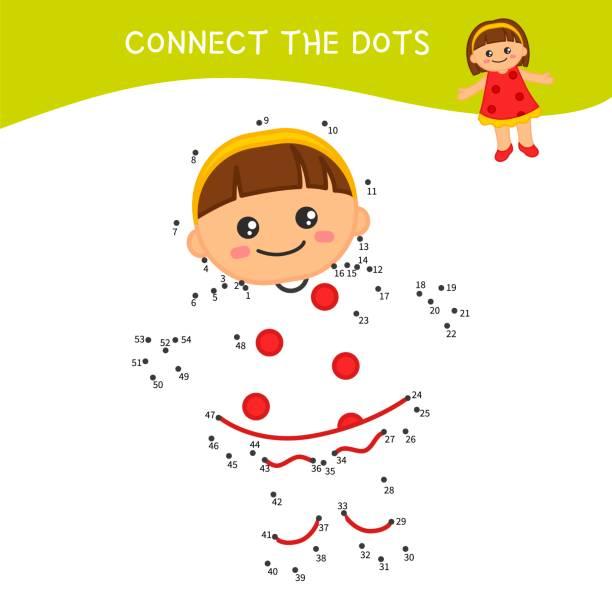 pädagogisches spiel für kinder. - puppenkurse stock-grafiken, -clipart, -cartoons und -symbole