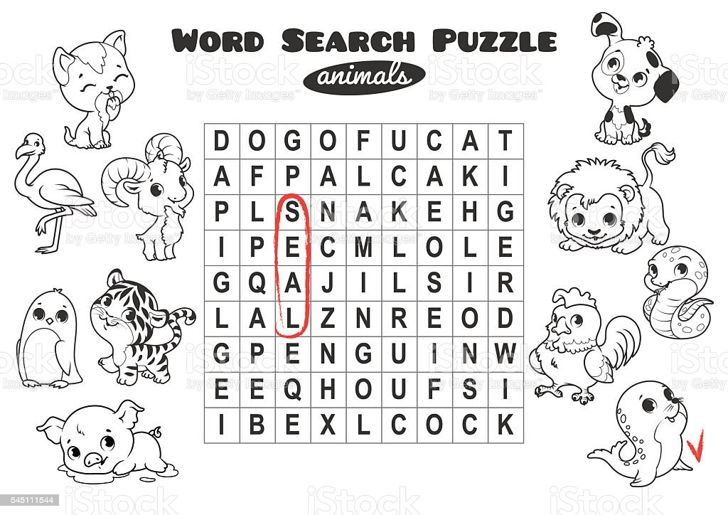educational game for kids word search puzzle vector id
