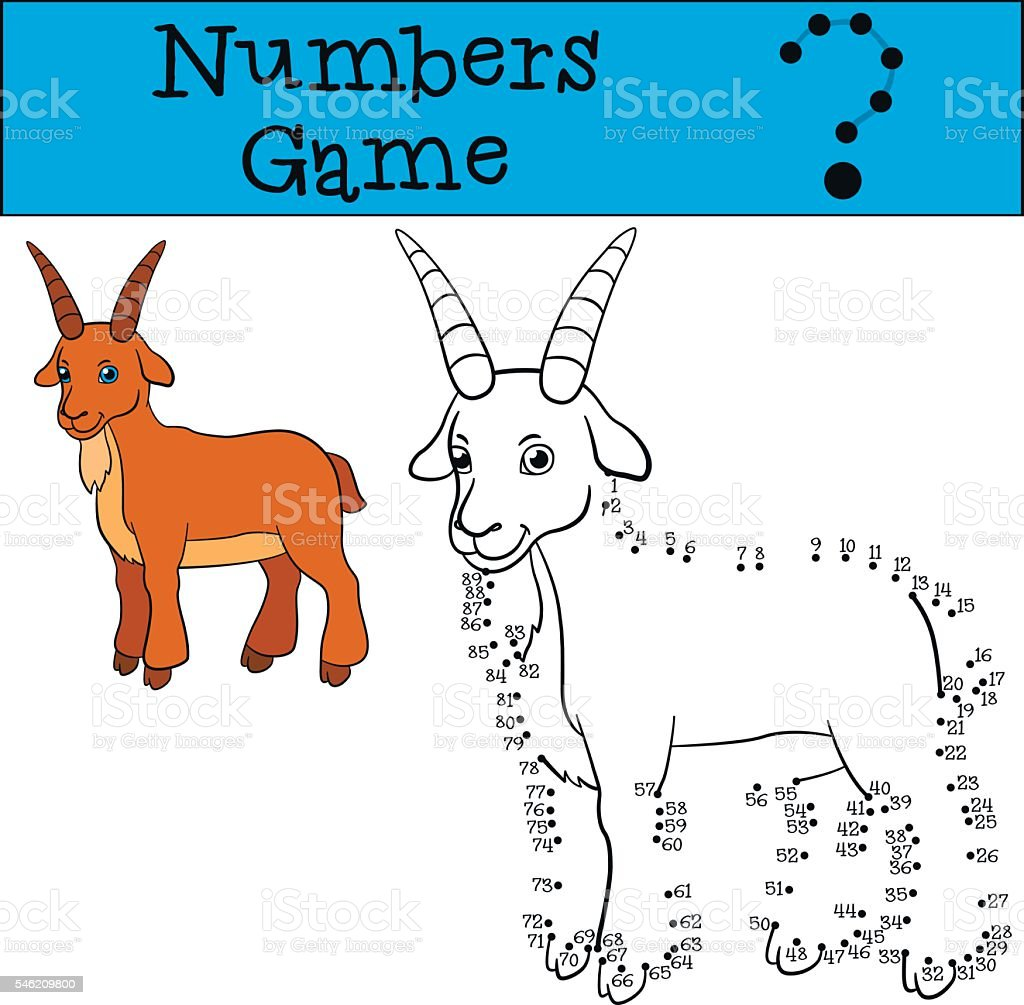 educational games for kids numbers game cute goat stock vector art