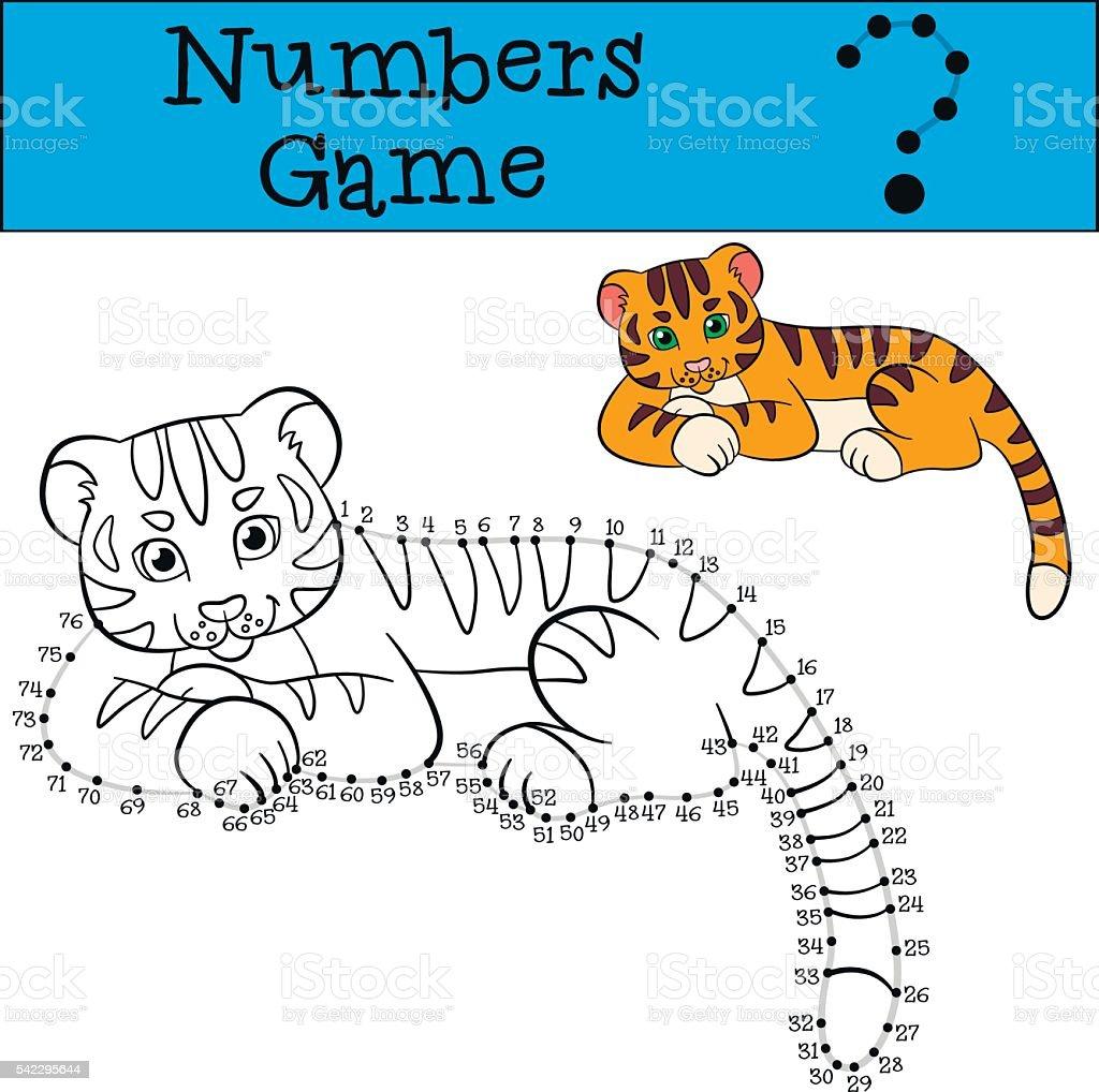 Ilustracion De Educativos Juegos Para Ninos Numeros Juego Con