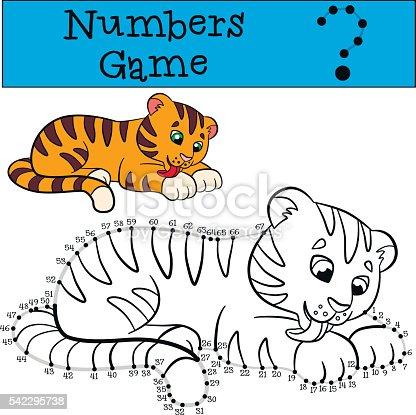 Istock Cuestion De Numeros Poco Lindo Tigre Sonrisas 540577934