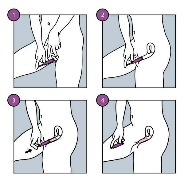 Einführen bilder tampon Einen Tampon