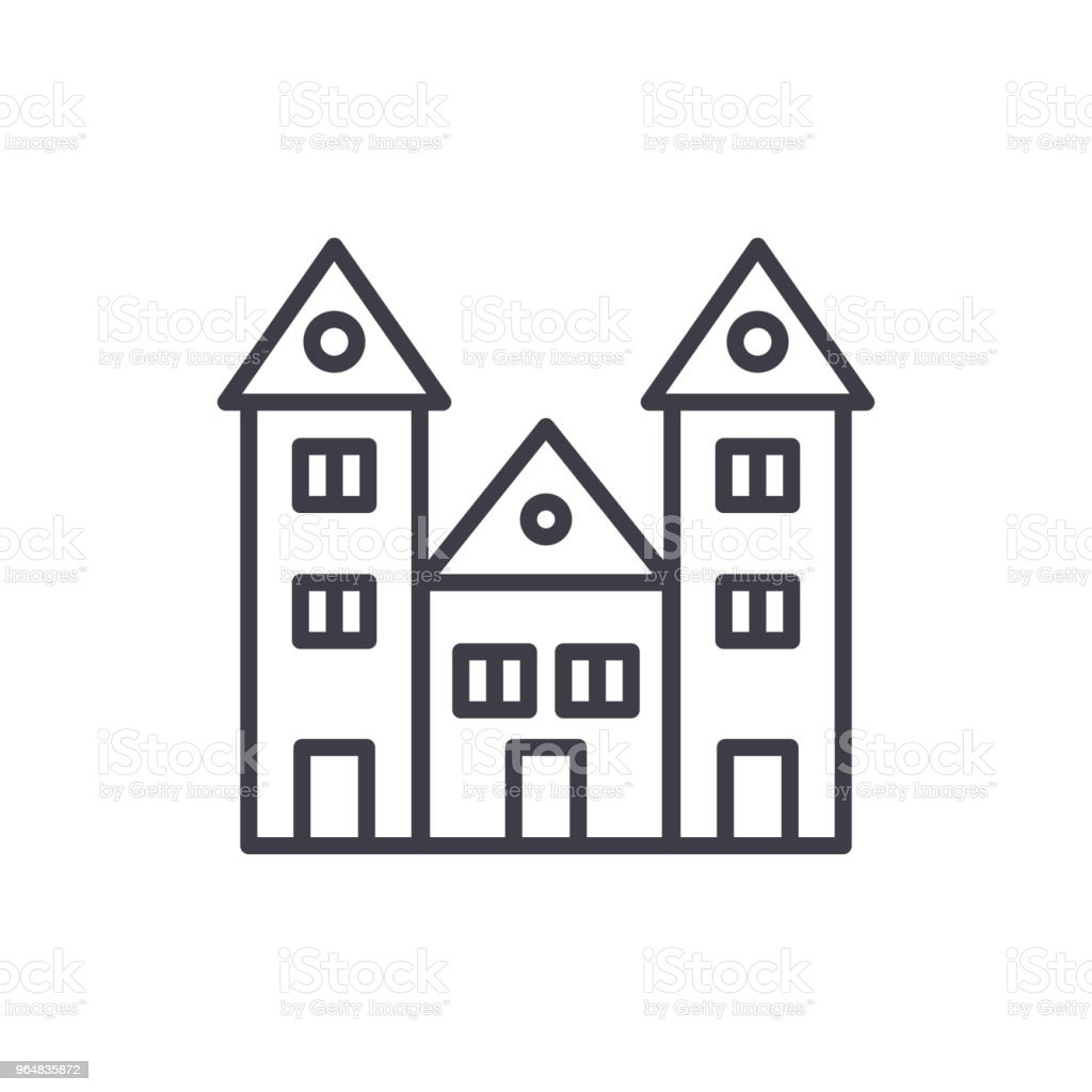 Educational institution black icon concept. Educational institution flat  vector symbol, sign, illustration. royalty-free educational institution black icon concept educational institution flat vector symbol sign illustration stock vector art & more images of architecture