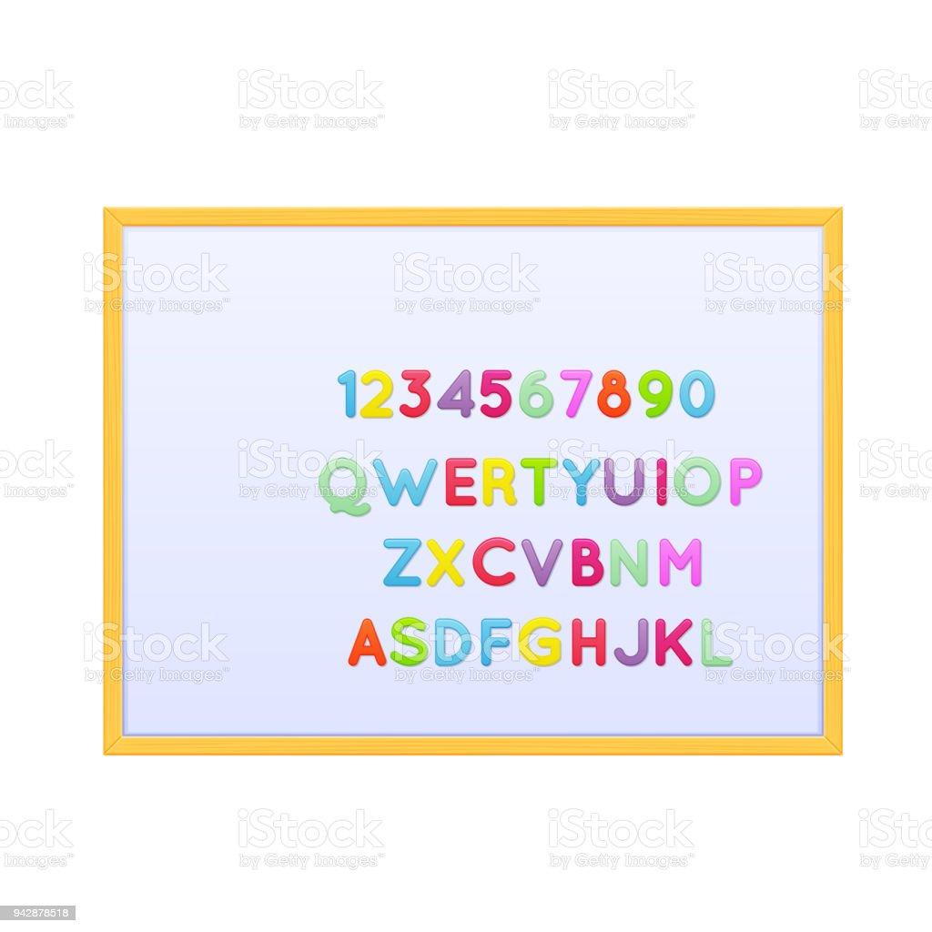 pädagogische magnettafel mit kinder alphabet magnete