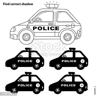 Polis Araba Boyama Kitabi Clipart Goruntusu