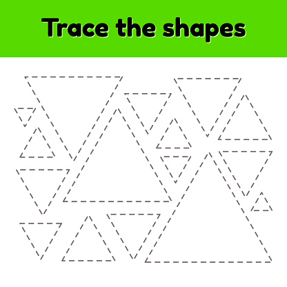 Educational Tracing Worksheet For Kids Kindergarten ...