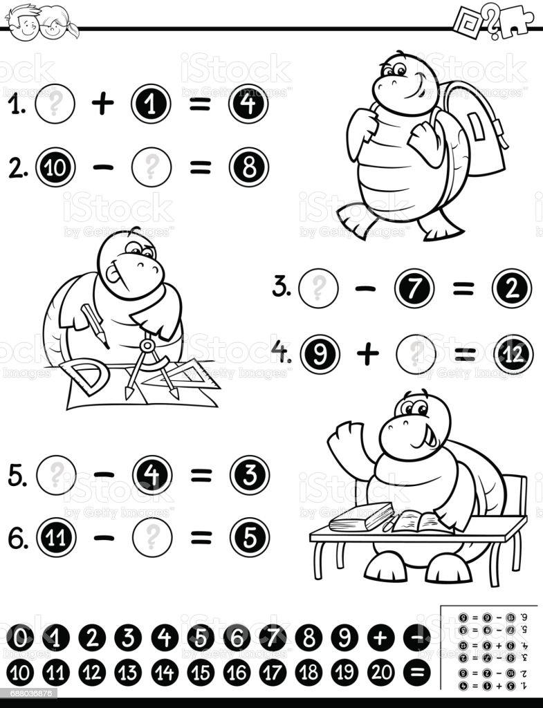 Ilustración de Página De Hoja De Trabajo Educativo Para Colorear y ...