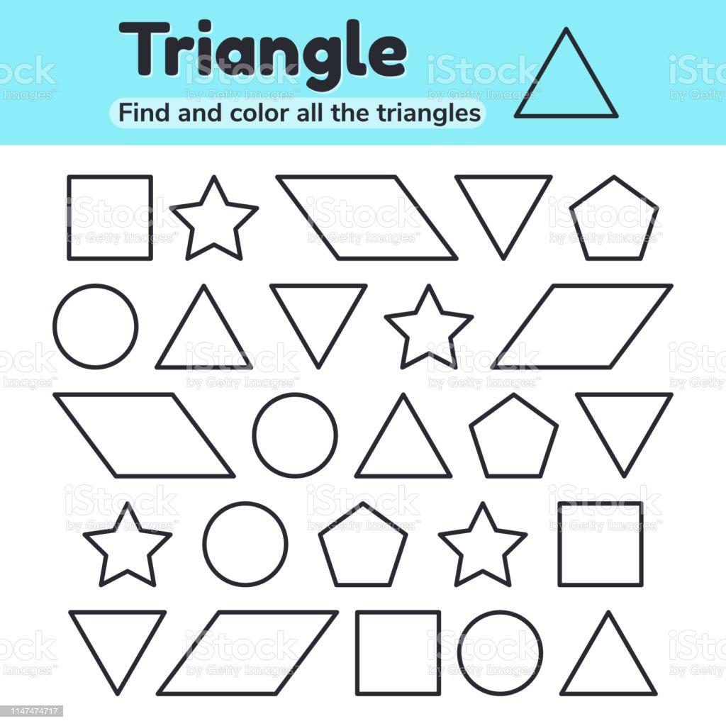 Educational Worksheet For Kids Kindergarten Preschool And School Age