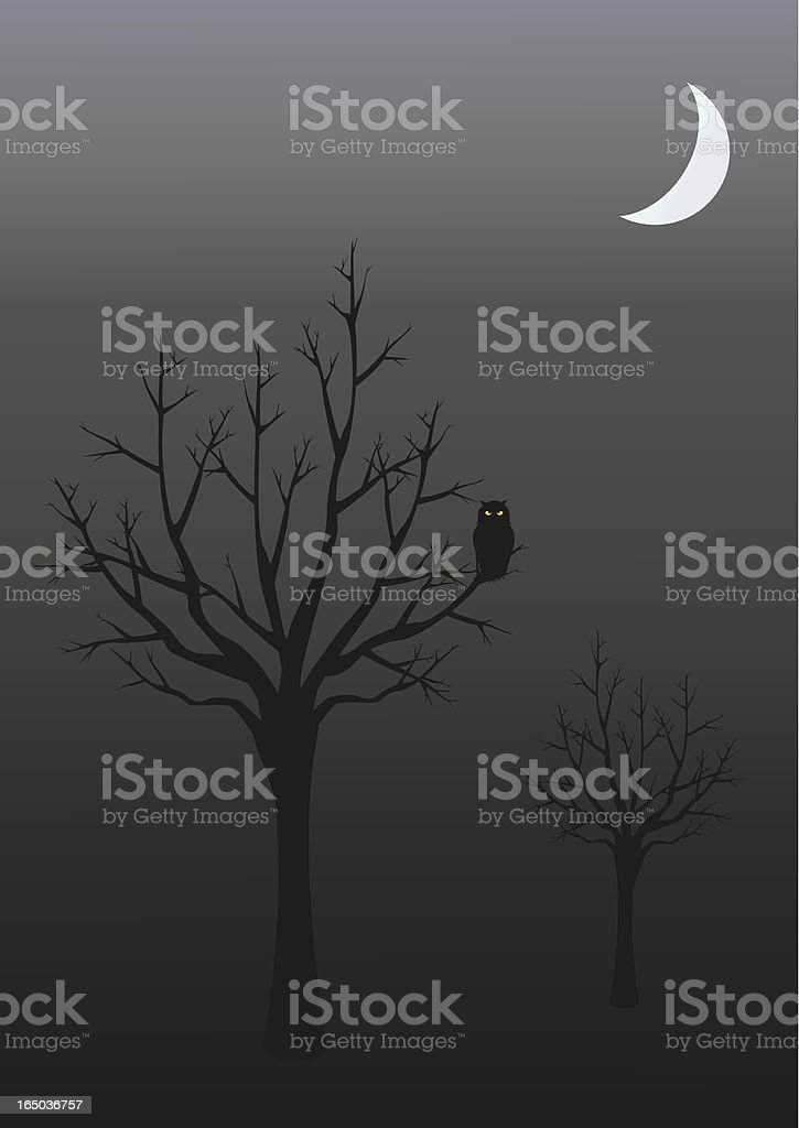 Eerie Owl - incl. jpeg royalty-free stock vector art