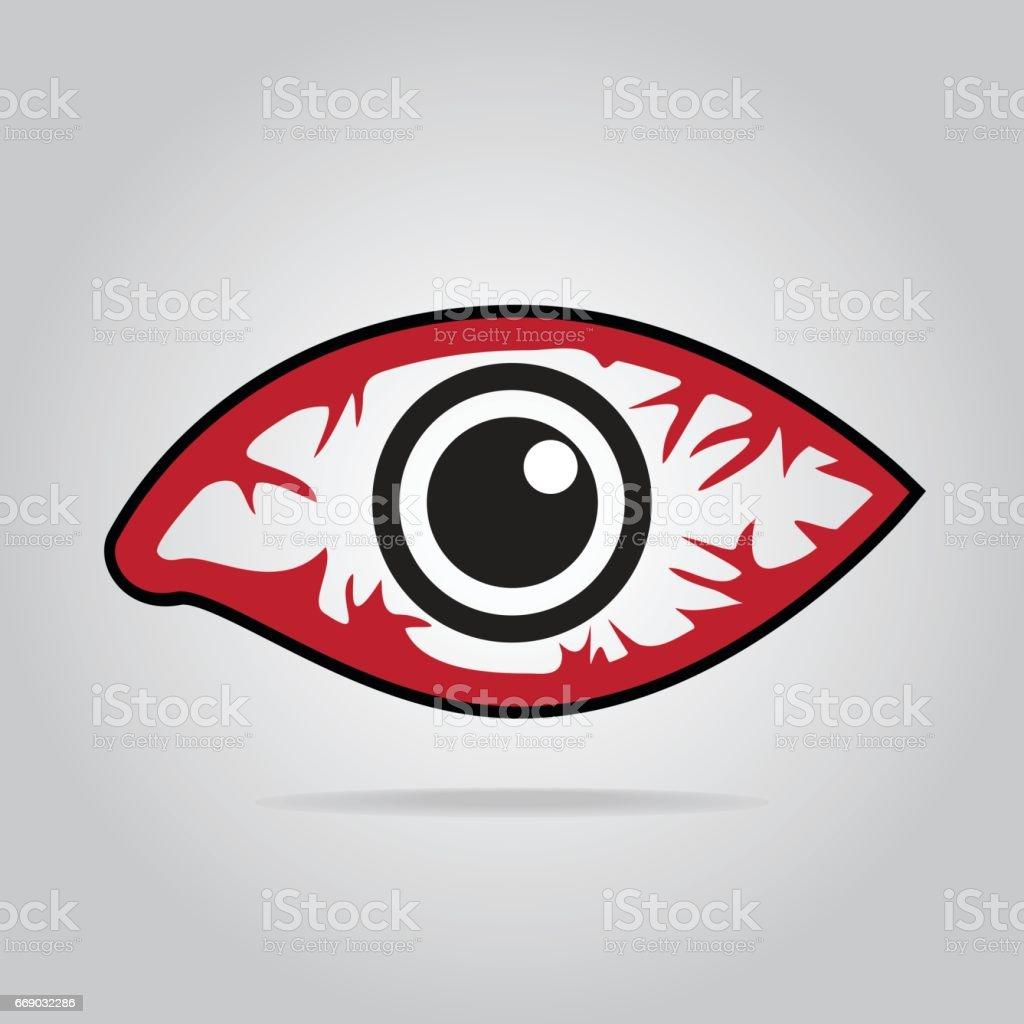 Eeye redness icon, Inflammatory disease of eyes. vector art illustration