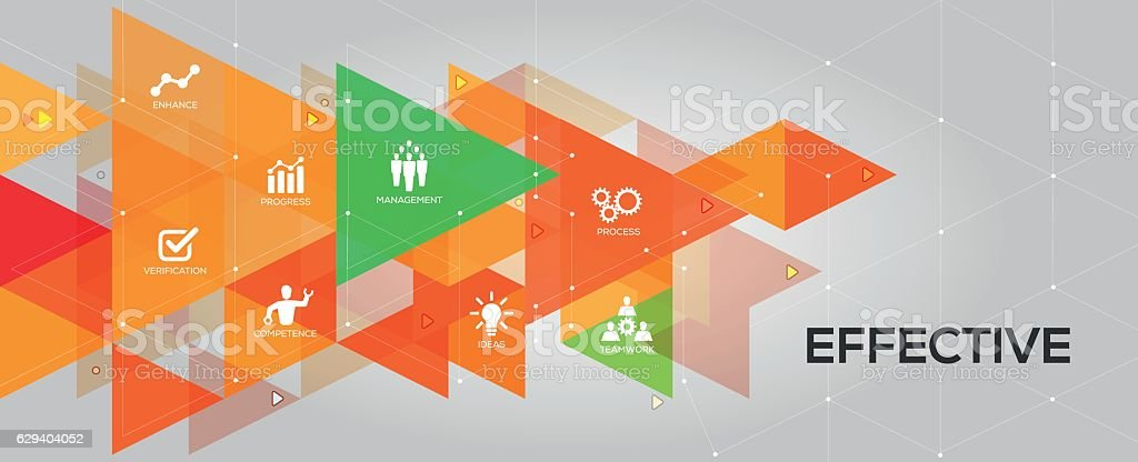 Effective banner and icons vector art illustration