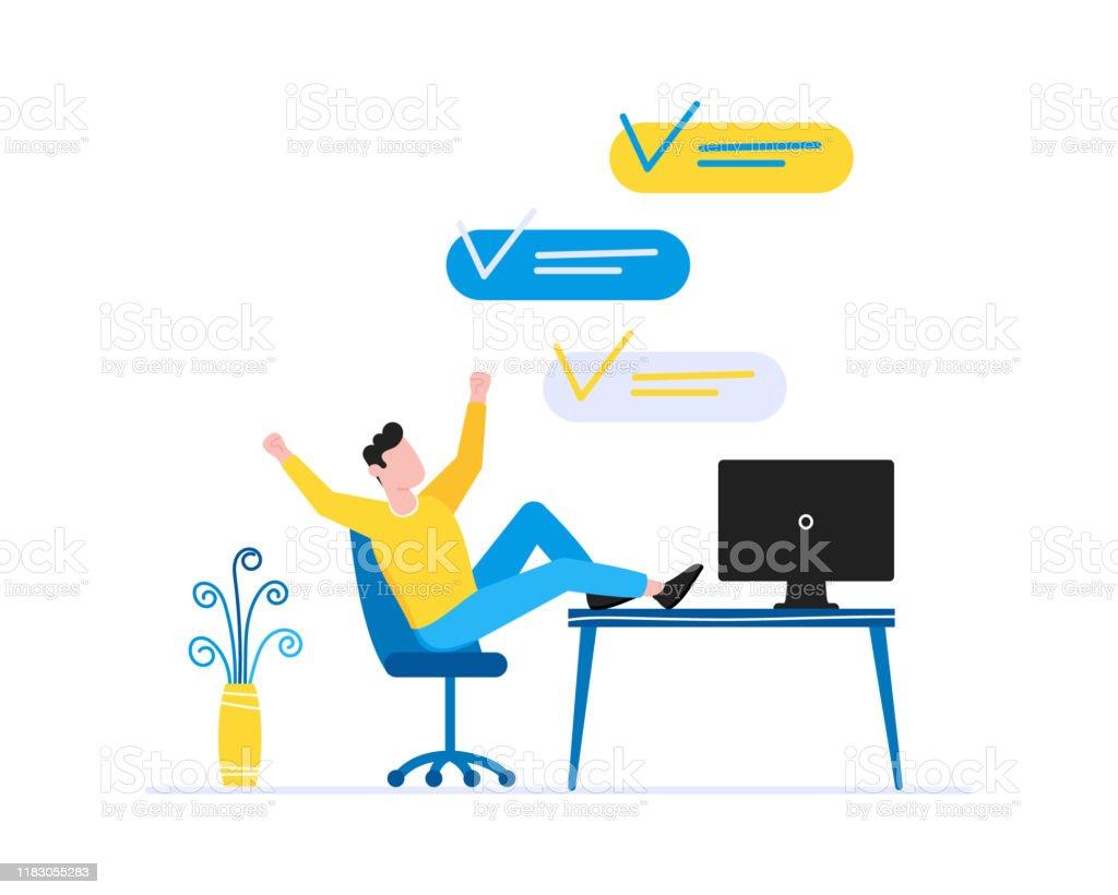 Person Im Stuhl ClipArt-Vektor-ClipArt-Kostenlose Vector Kostenloser  Download
