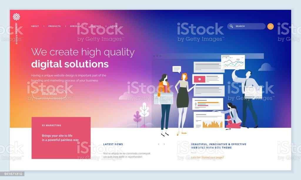 Effective website template design