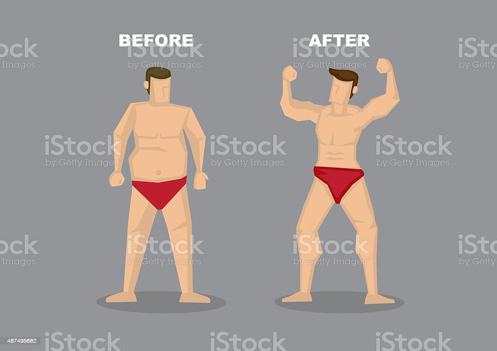 Effective Weight Loss Vector Illustration vector art illustration