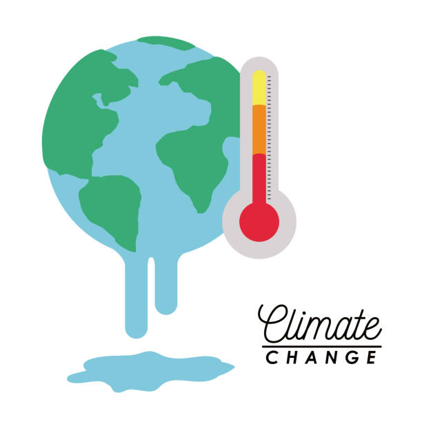 illustrazioni stock, clip art, cartoni animati e icone di tendenza di effects of climate change - climate change