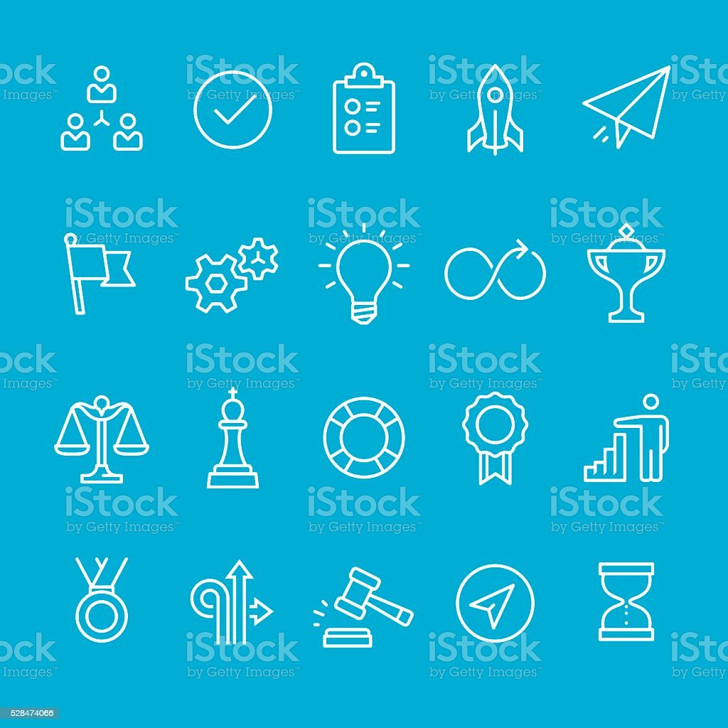 Efficiency at Work icons collection vector art illustration