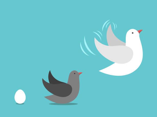 Ei, Vogel aufwachsen – Vektorgrafik