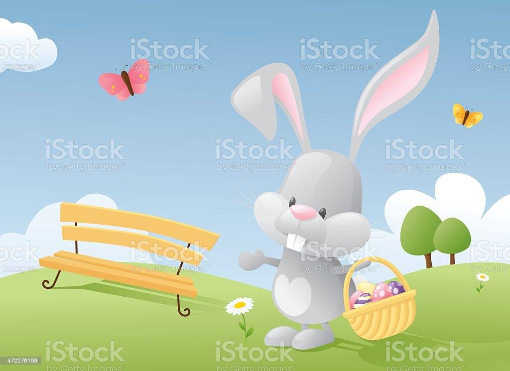 Egg Bunny royalty-free stock vector art