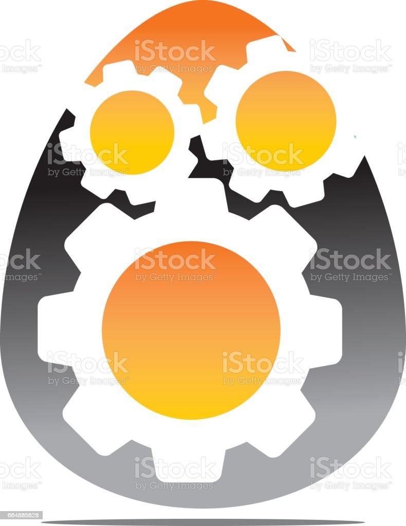Egg Business Incubator vector art illustration