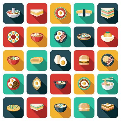 Egg Dishes Icon Set